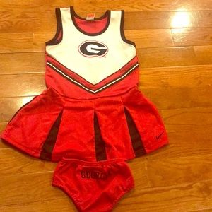 Girl's Nike size 6 Georgia cheer outfit